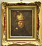 ROSENTHAL PORCELAIN PAINTED PLAQUE OF REMBRANDT