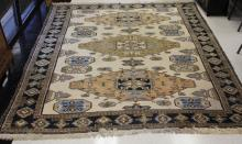 VINTAGE ROOMSIZE TRIBAL CARPET