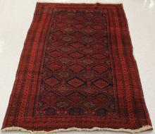 VINTAGE TRIBAL HANDWOVEN CARPET