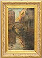 ITALIAN SCHOOL OIL ON CANVASVenetian Canalssigned lower leftcirca late 19th centurysight- 12 1/4