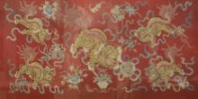 CHINESE SILK EMBROIDERED WALL TAPESTRY