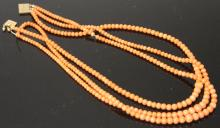 LADY'S CORAL 14KT NECKLACE