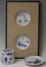 LOT OF (3) EARLY CHINESE BLUE AND WHITE PORCELAIN