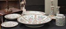 GROUPING OF CHINESE ROSE CANTON PORCELAIN