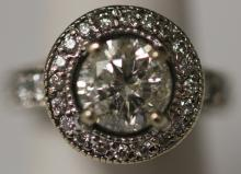 LADY'S 2.18 CT. SOLITAIRE DIAMOND 14KT RING