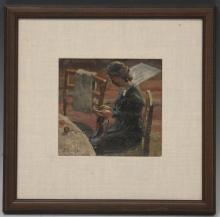 LEON KOWALSKI (1870-1937), PAINTING, FRAMED