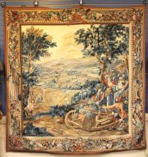 FRENCH NEEDLEPOINT WALL TAPESTRY, 85
