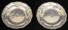 PAIR OF MEXICAN STERLING SILVER PLATES, 13.4 OZT