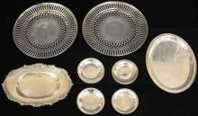 LOT OF (16) STERLING SILVER PLATES, 30.63 OZT
