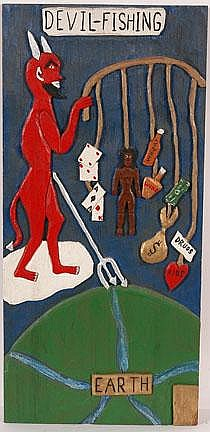 Leroy Almon. Devil Fishing Plaque.