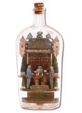 Carl Worner.  Louis A. Steinhagen Saloon Bottle.