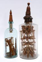 Gottlieb Stingel. Large Spinning Wheels In Bottles.