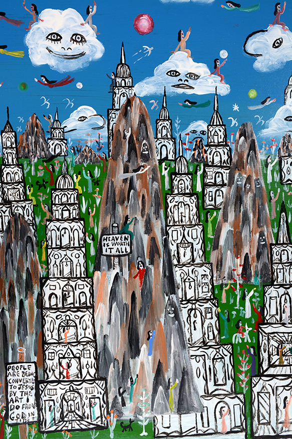 Howard finster heaven is worth it all Paintings that are worth a lot of money
