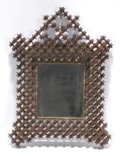 Tramp Art Crown Of Thorn Mirror.