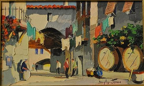 Doyly-John-Mediterranean streetscene with hanging
