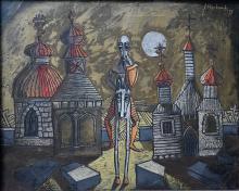 Janusz Hankowski (Polish, b 1933) - 'Don Kichot'