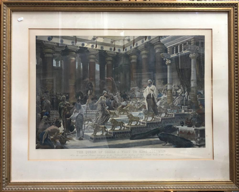 The Queen of Sheba's Visit to King Solomon photogravure plate