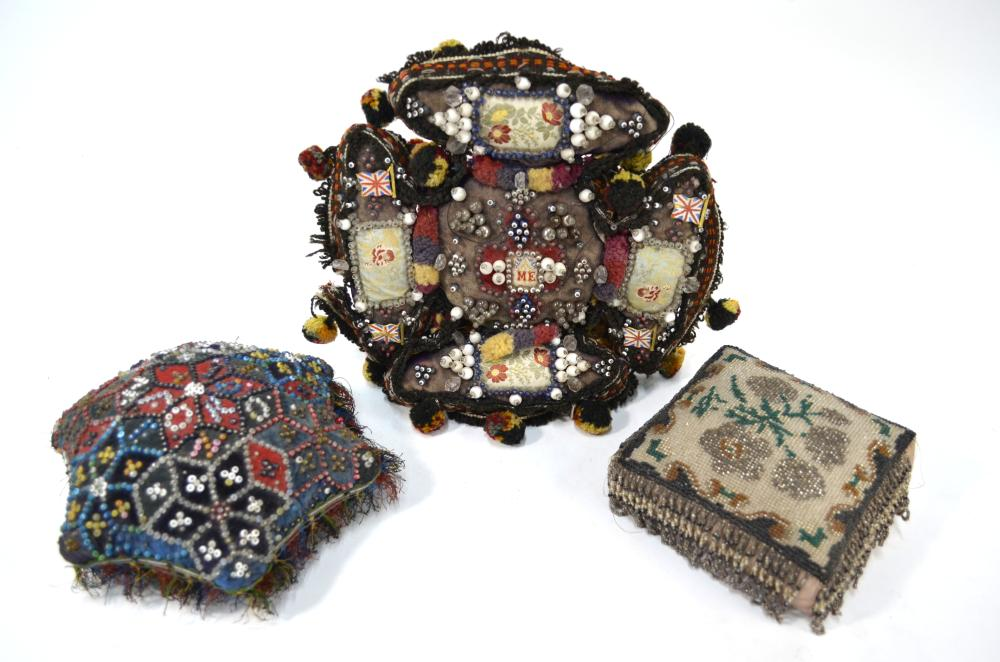 WW1 and Victorian pin cushions