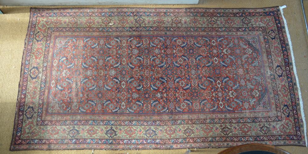 An Afghan-Belouch rug, blue, brown,ivory geometric design
