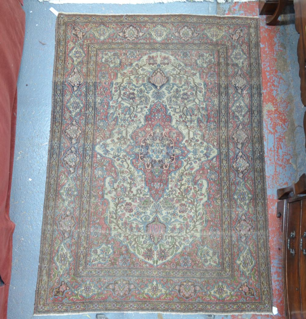 An old Persian Isfahan rug