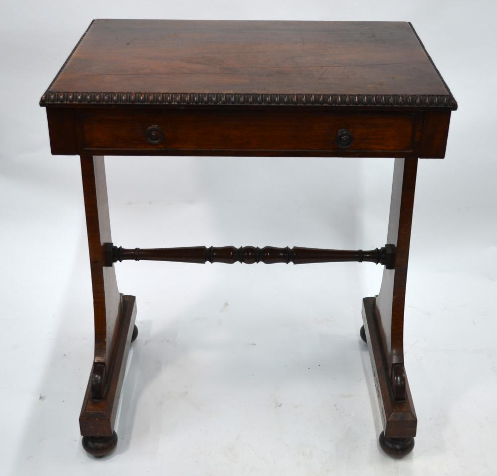 A Regency rosewood writing/side table