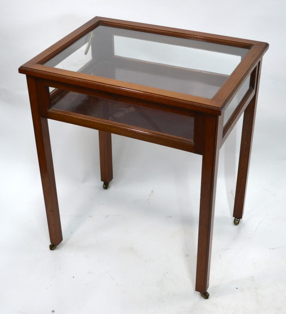 A mahogany vitrine table, early 20th century