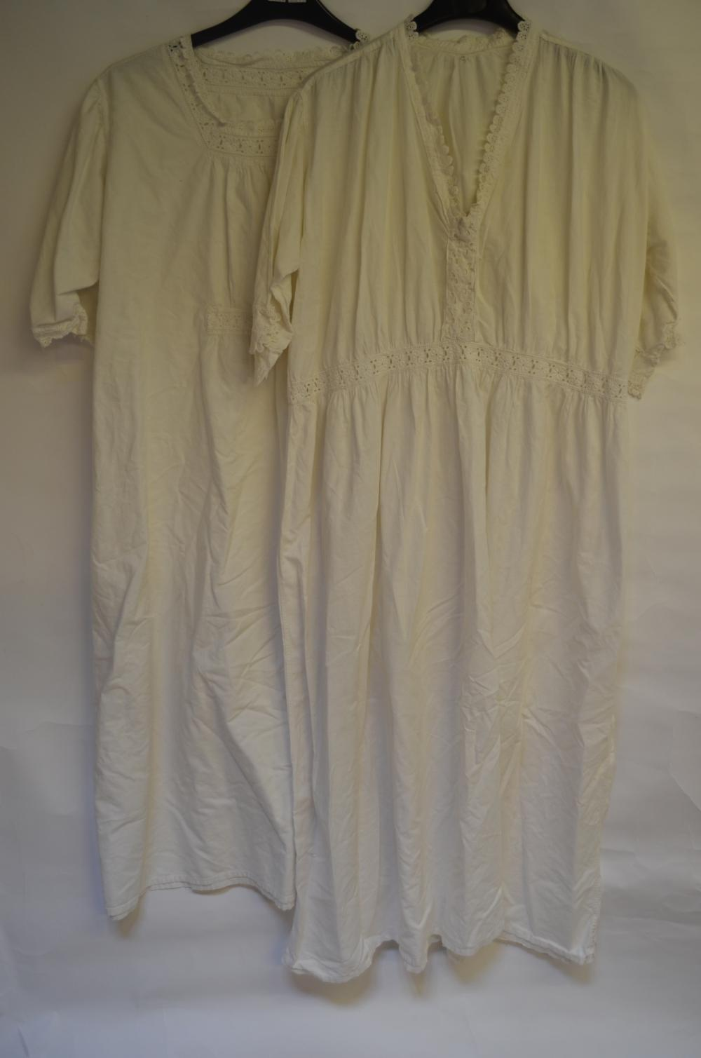 Victorian cotton nightgowns etc.