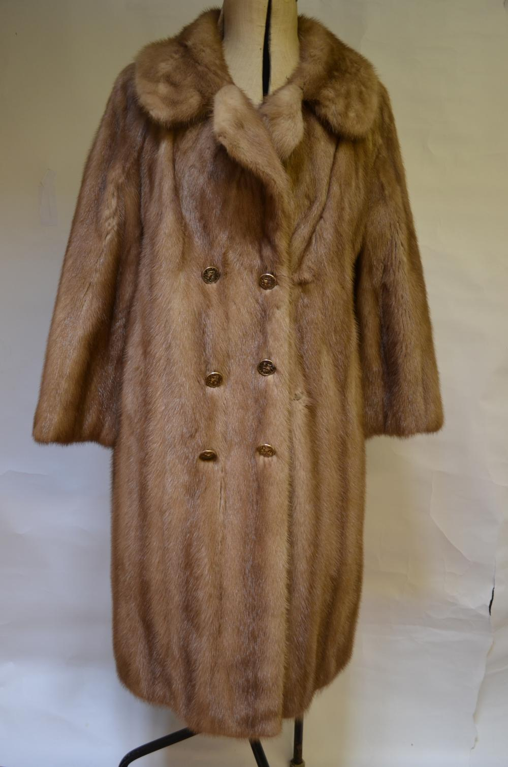 Mink full-length coat etc.