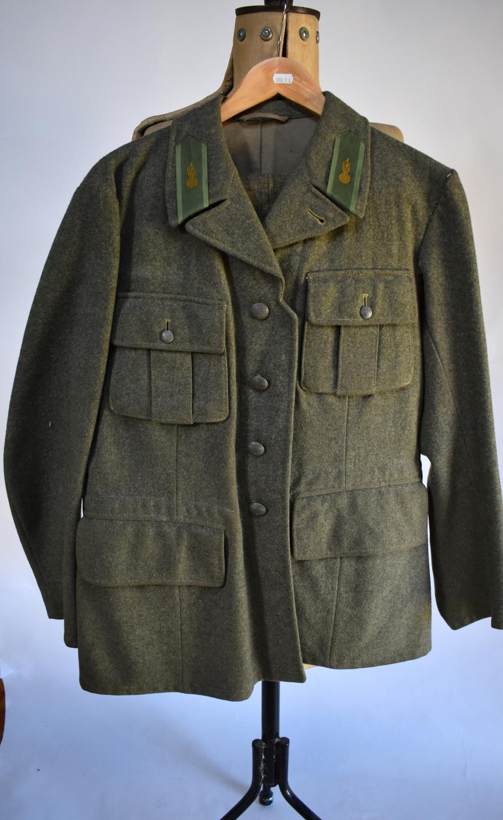 French WWII artillery uniform