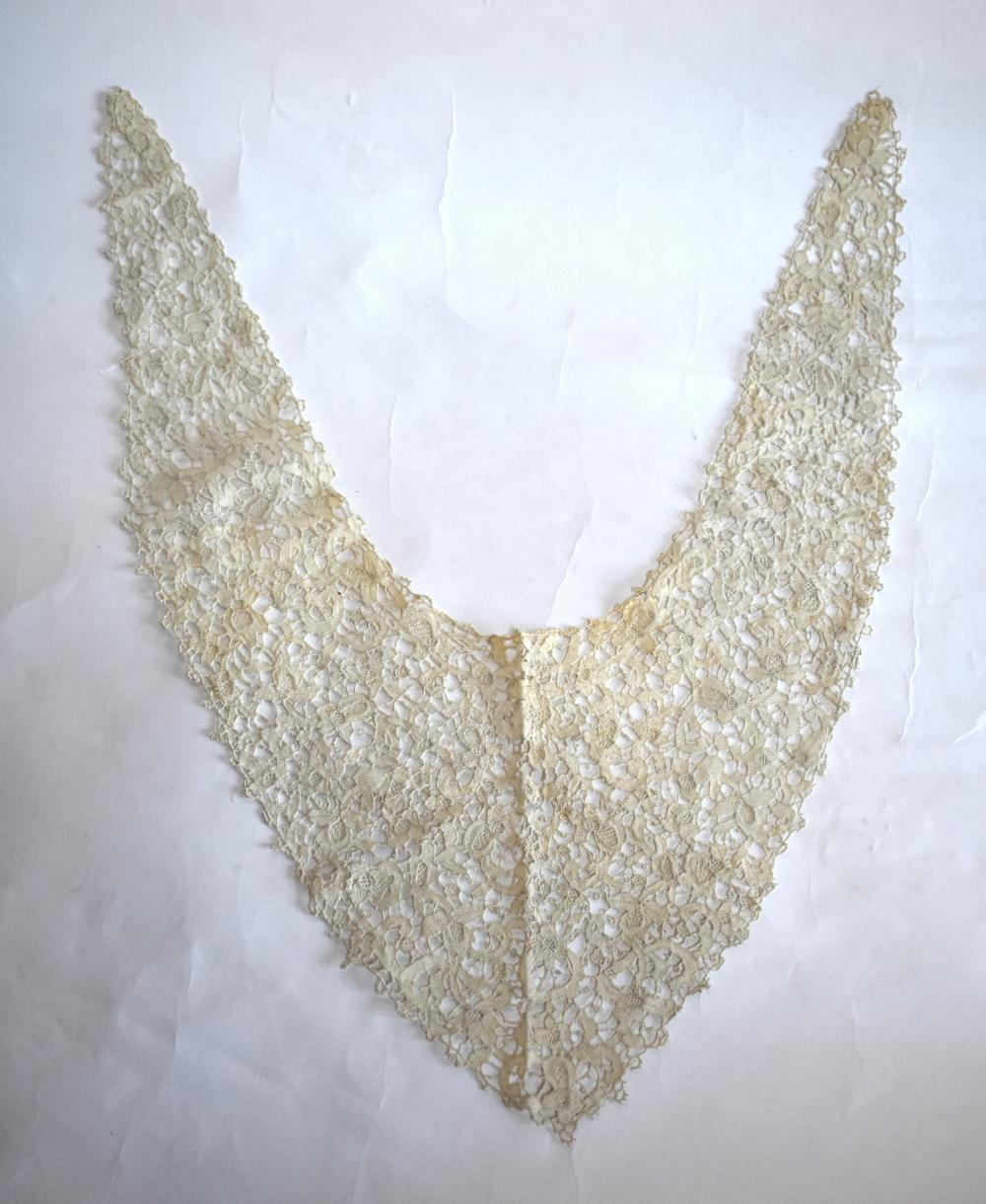 19th century and later lace, lace collars, lappets