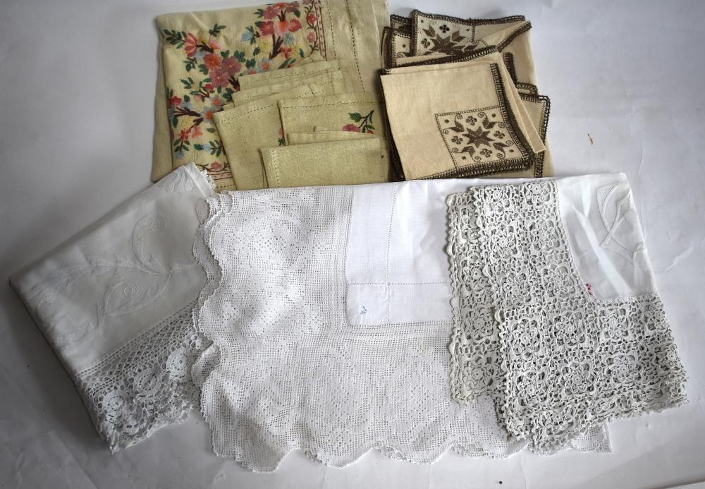 Assorted table linen