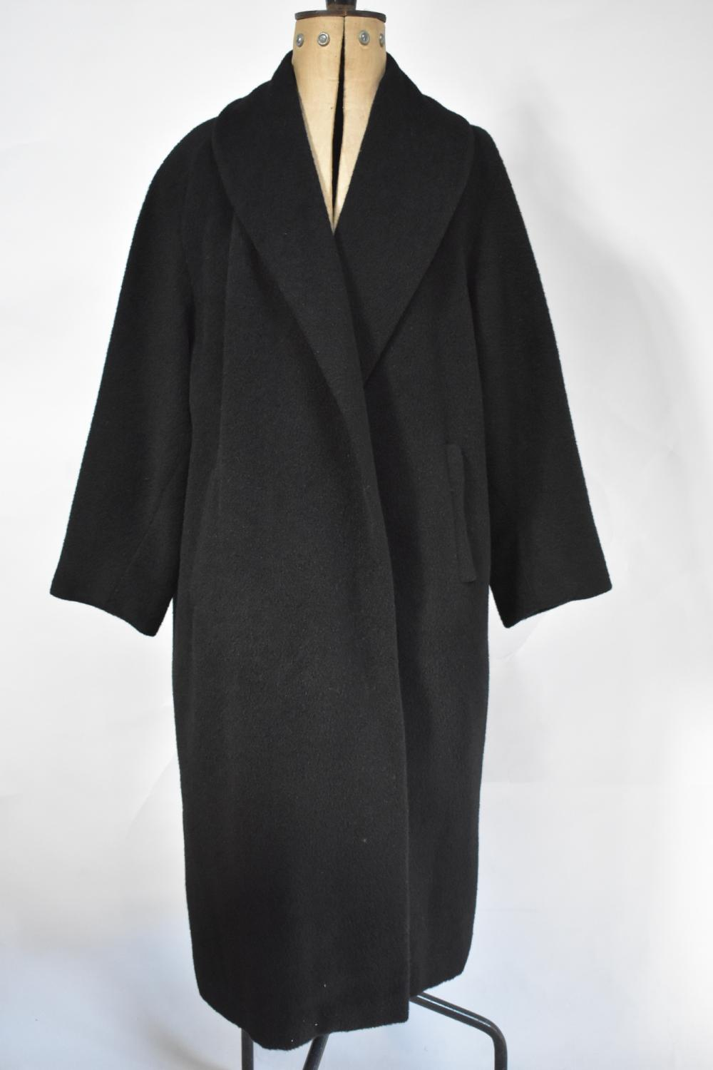 Lady's black alpaca coat