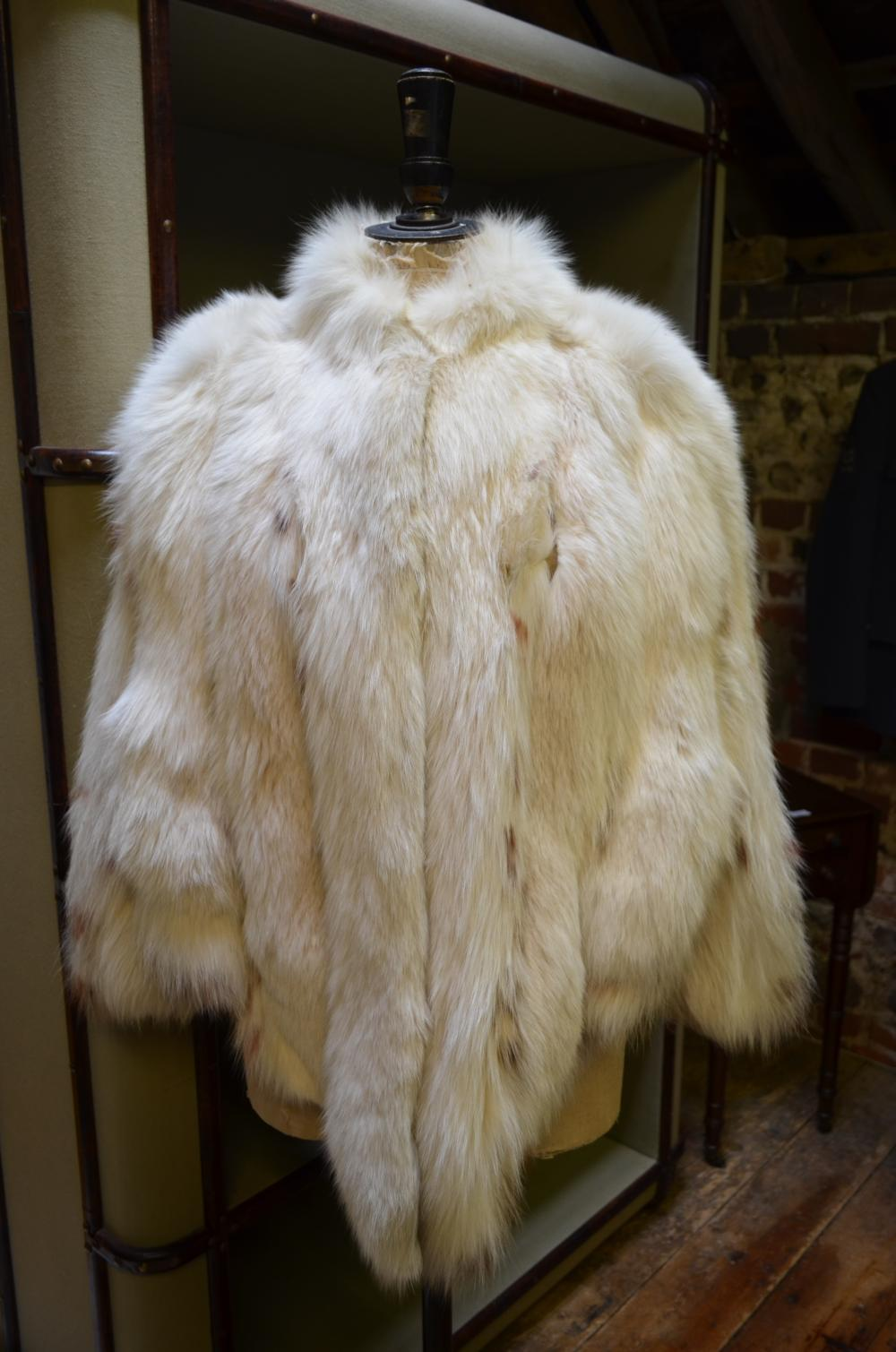 Bill Gibb white fox fur jacket