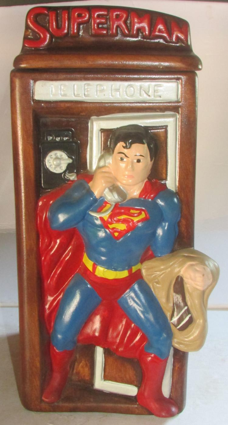 Spectacular Superman In Phone Booth Cookie Jar