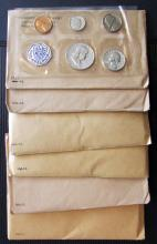 (6) 1957 to 1962 United States Proof Coin Sets