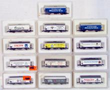 (13) Marklin Z-Scale Brewery / Beer Freight Cars