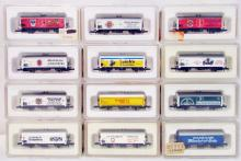 (12) Marklin Z-Scale Brewery / Beer Freight Cars
