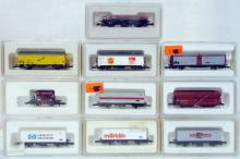 (10) assorted Marklin Z-Scale Freight Cars