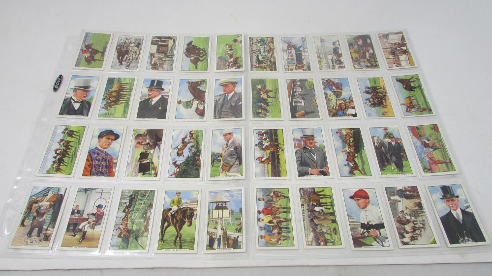 Horse Racing Scenes 48 Tobacco Card Set 1938