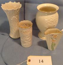 5 Lenox Vases from 5 to 8.5 Inches Tall