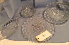 4 Pcs American Pattern Fostoria Crystal
