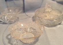 3 Pieces Fostoria Patttern Glass