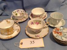 5 Sets China Cups and Saucer Sets