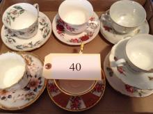 7 Matching Sets Cups and Saucers