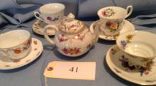 4 Matching Sets Cups and Saucers