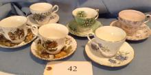 6 Matching Sets Cups and Saucers