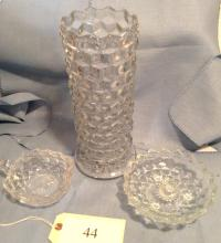 3 Pieces of American Fostoria Glass