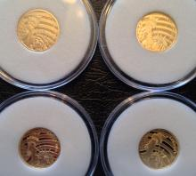 (4) 2016 Statue of Liberty Partial Gold Proof Coin