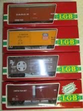 Lot of (4) different LGB #4067 Boxcars NIB