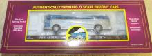 MTH O-Scale Pennsylvania (#480184) Flatcar w/ Greyhound Diecast Bus NIB